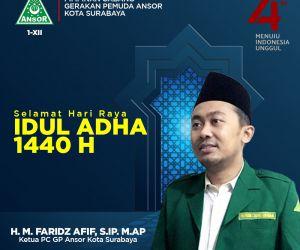 Ketua PC GP Ansor Surabaya: Idul Adha Momentum Silaturahmi dan Berbagi
