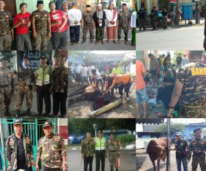 Saat Satkoryon Banser Se Surabaya PAM di Hari Raya Idul Adha