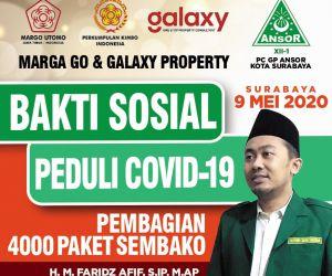 GP Ansor Surabaya Bersama Perhimpunan Marga Go & Galaxy Property Salurkan 4000 Paket Sembako