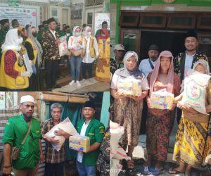 PC GP Ansor Kota Surabaya Bersama Lions Club Salurkan 1000 Sembako Kepada Masyarakat Terdampak Covid