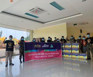 GP Ansor Bersama Alice Grup Bagikan 5 Juta Masker